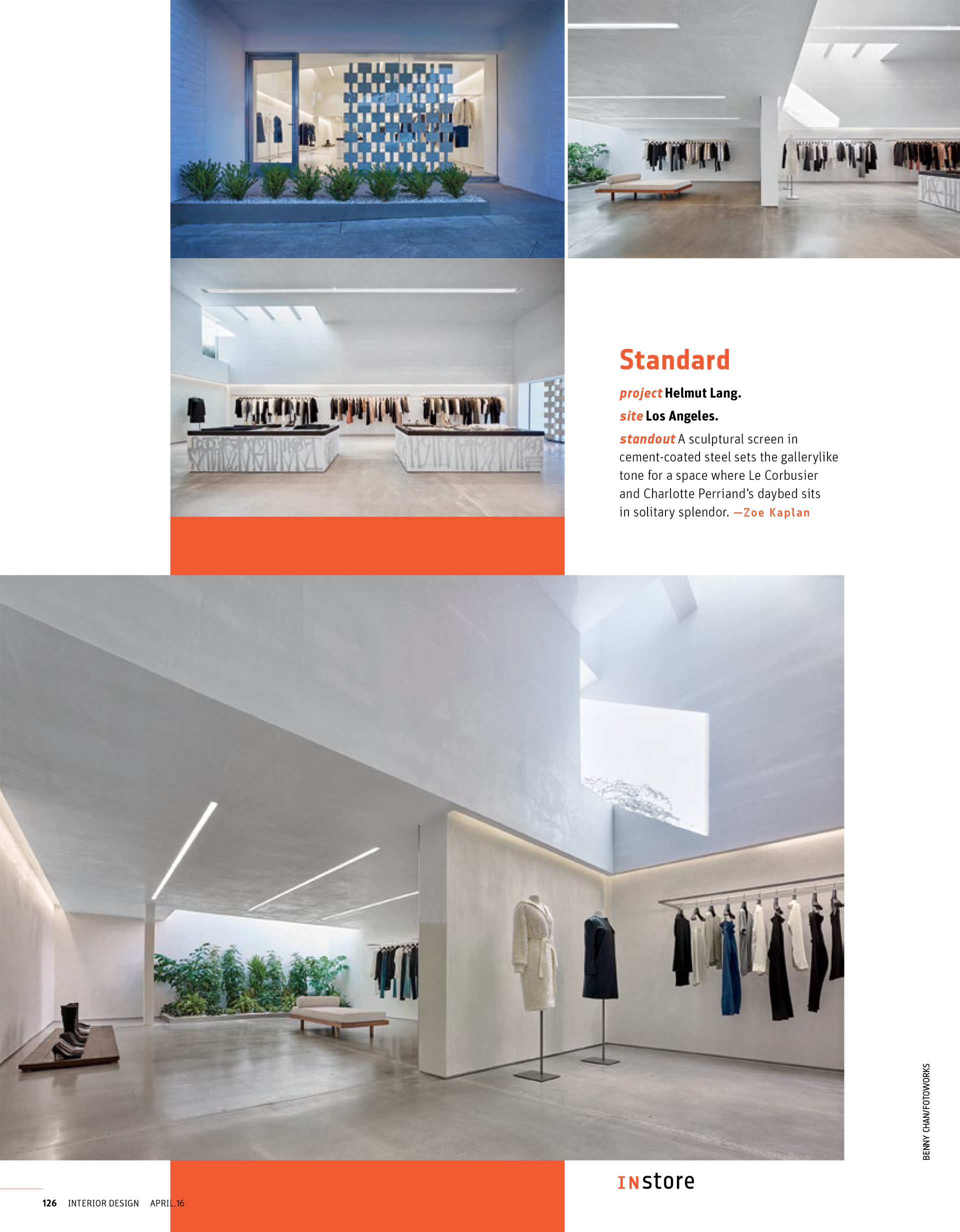 Interior Design Magazine, 4/2016 Publication in magazines  HelmutLang