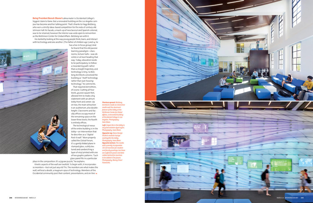 Interior Design Magazine, 3/2014 Commercial  OccidentalCollege-copy-3-1024x665