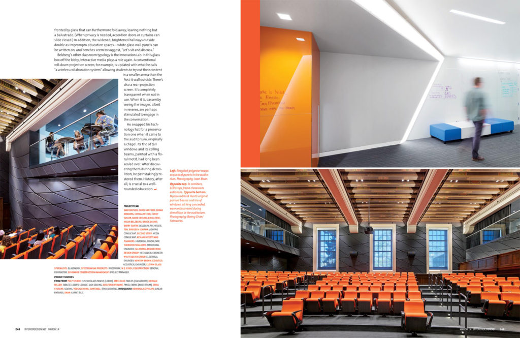 Interior Design Magazine, 3/2014 Commercial  OccidentalCollege-copy-5-1024x665